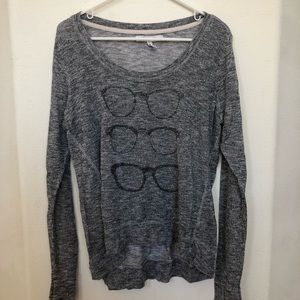 Knit glasses long sleeve